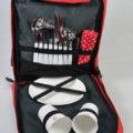 ESKERO piknikový batoh červeno-šedý