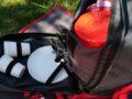 piknikový batoh, termokapsa, studené víno a potraviny
