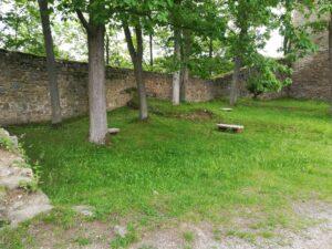 zákoutí v areálu hradu
